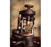 Optometry - Lens cutting machine Photographic Print
