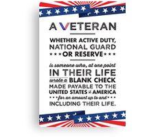 A Veteran Canvas Print