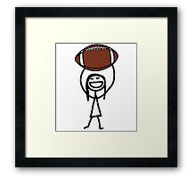 Football fan girl  Framed Print