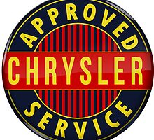 Chrysler Approved Service vintage sign Crystal version by htrdesigns