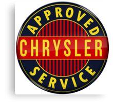 Chrysler Approved Service vintage sign Crystal version Canvas Print