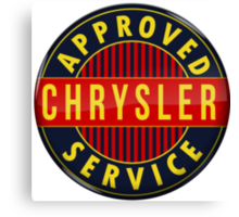 Chrysler Approved Service vintage sign Crystal version Canvas Print