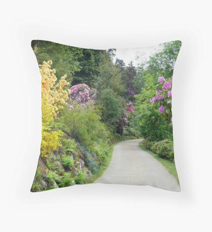 The  Rhododendrons at Cragside Throw Pillow