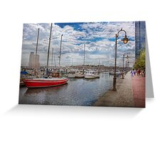 Boat - Baltimore, MD - One fine day in Baltimore  Greeting Card