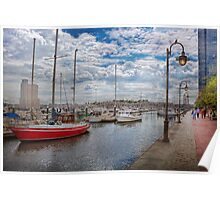 Boat - Baltimore, MD - One fine day in Baltimore  Poster