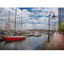 Boat - Baltimore, MD - One fine day in Baltimore  Photographic Print