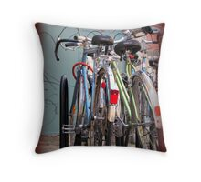 City Bikes Throw Pillow