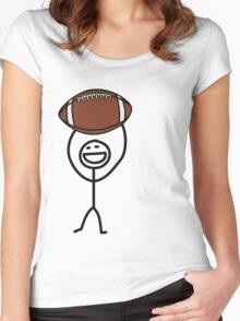 Football fan Women's Fitted Scoop T-Shirt