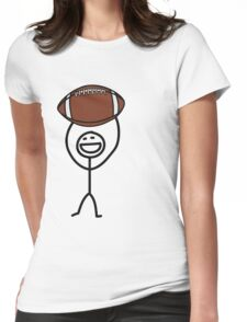 Football fan Womens Fitted T-Shirt