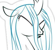 Queen Chrysalis Outline Sticker