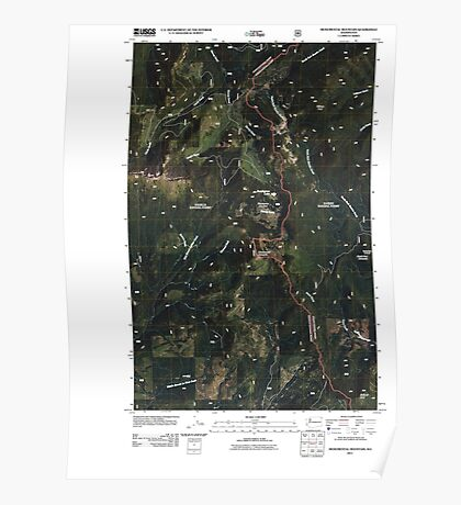 USGS Topo Map Washington State WA Monumental Mountain 20110428 TM Poster