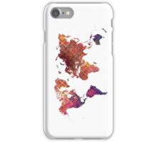 world map iPhone Case/Skin