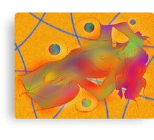Abstract digital art - Limettina V1 Canvas Print