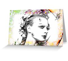 """If you are going to San Francisco, be sure to wear some flowers in your hair"" Greeting Card"