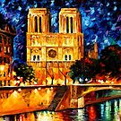 NOTRE DAME DE PARIS - OIL PAINTING BY LEONID AFREMOV by Leonid  Afremov