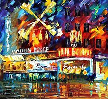 MOULIN ROUGE - OIL PAINTING BY LEONID AFREMOV by Leonid  Afremov