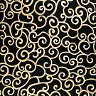Golden abstract arabesque by homydesign
