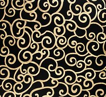 Golden abstract arabesque by homydesign