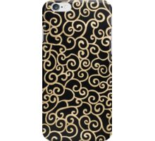 Golden abstract arabesque iPhone Case/Skin
