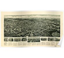 Panoramic Maps Aero view of Egg Harbor City New Jersey Poster