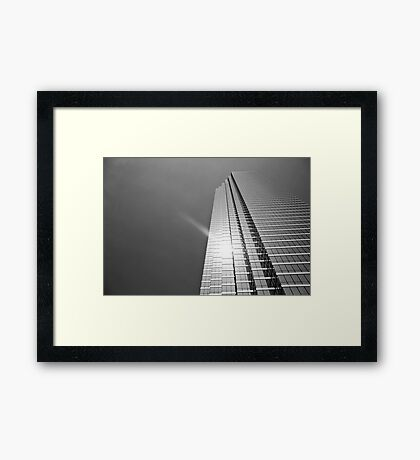 Sun over Bank of America Plaza Framed Print
