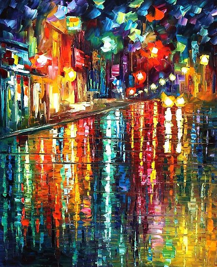 THE BLUR OF THE RAIN - OIL PAINTING BY LEONID AFREMOV by Leonid  Afremov