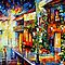 TOWN FROM THE DREAM - OIL PAINTING BY LEONID AFREMOV by Leonid  Afremov