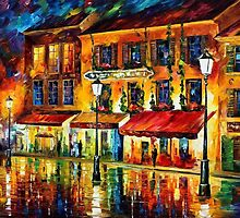 PARIS, NIGHT MONTMARTRE - OIL PAINTING BY LEONID AFREMOV by Leonid  Afremov