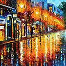 EARLY MORNING IN PARIS - OIL PAINTING BY LEONID AFREMOV by Leonid  Afremov