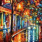 NIGHT CAFE - OIL PAINTING BY LEONID AFREMOV by Leonid  Afremov