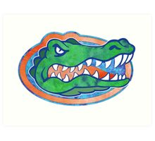 Florida Gator Tie Dye Art Print