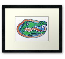 Florida Gator Tie Dye Framed Print