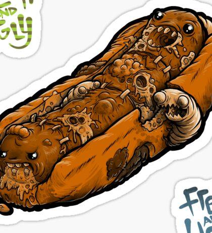 Rot Dog, Orange + Bonus F&U stickers Sticker
