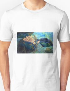 Lotus and frog morning T-Shirt