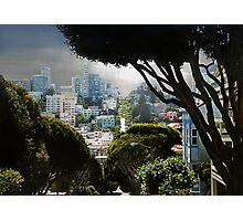Landscape on Lombard Street, San Francisco Photographic Print