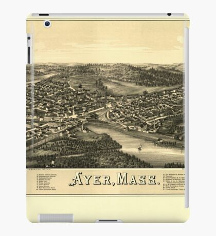 Panoramic Maps Ayer Mass iPad Case/Skin