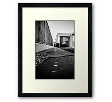 Abstract view through the neighborhood Framed Print