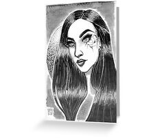 Cracked Girl Greeting Card