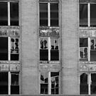 Michigan Central Station broken windows by jrier