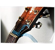 Dramatic Acoustic Guitar Poster
