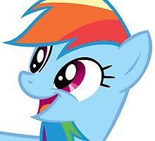 Rainbow Dash Happy by danspy1994