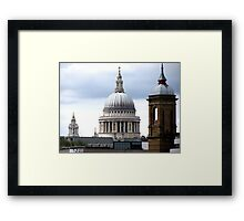 DOME OF ST PAULS CATHEDRAL Framed Print