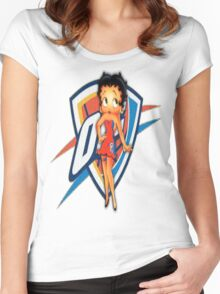 Betty boop is a Thunder girl!!! Women's Fitted Scoop T-Shirt