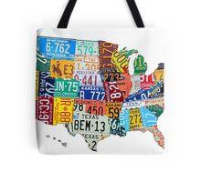 License Plate Map of The United States 2012 Edition 3 on White Tote Bag