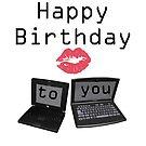 Computer happy birthday card by Dawnsky2