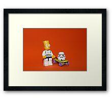 Bart Simpson Stormtrooper Framed Print
