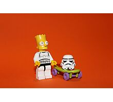 Bart Simpson Stormtrooper Photographic Print