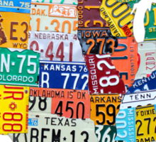 License Plate Map of The United States 2012 Edition 3 on White Sticker