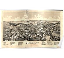 Panoramic Maps Springville NY Poster