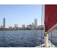 Sailing in Boston Photographic Print